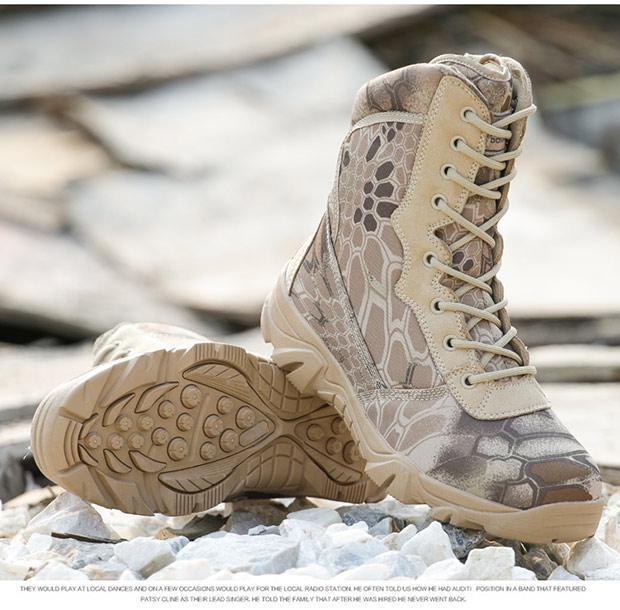 Hiking Shoes Men Military Tactical Combat Boots Hunting Shoes Chaussure Chasse-Boots-Bargain Bait Box-Yellow Python-7-Bargain Bait Box