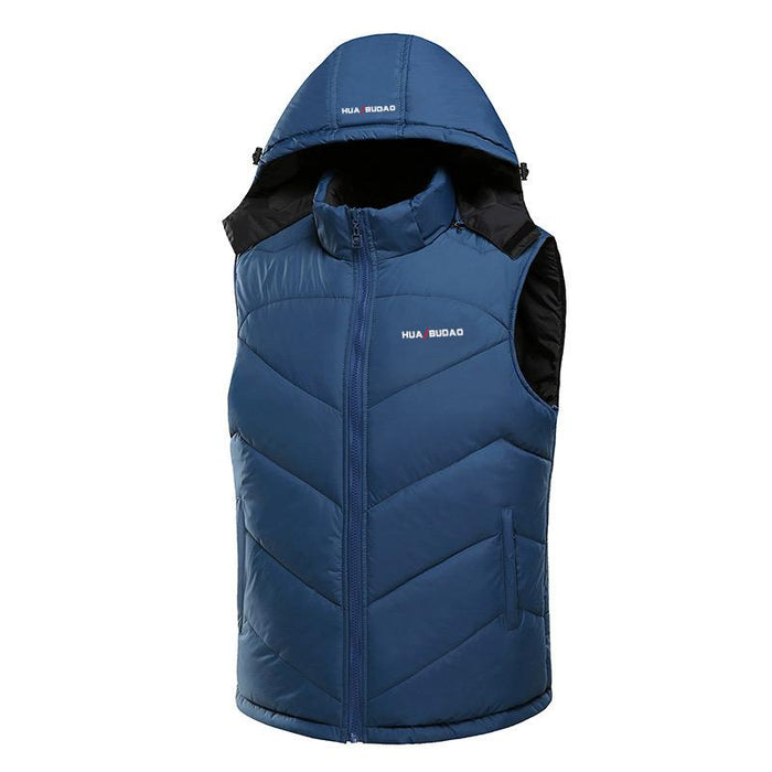 Hooded Vest Thick Warm Men Sleeveless Waist Street Hoodie Style Male 4Xl-Vests-Bargain Bait Box-black-L-Bargain Bait Box
