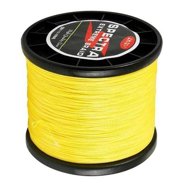 Hot! 500M 4 Strands Strong Japanese Multifilament Pe Braided Fishing Line-Master Fishing Tackle Co.,Ltd-Yellow-0.4-Bargain Bait Box