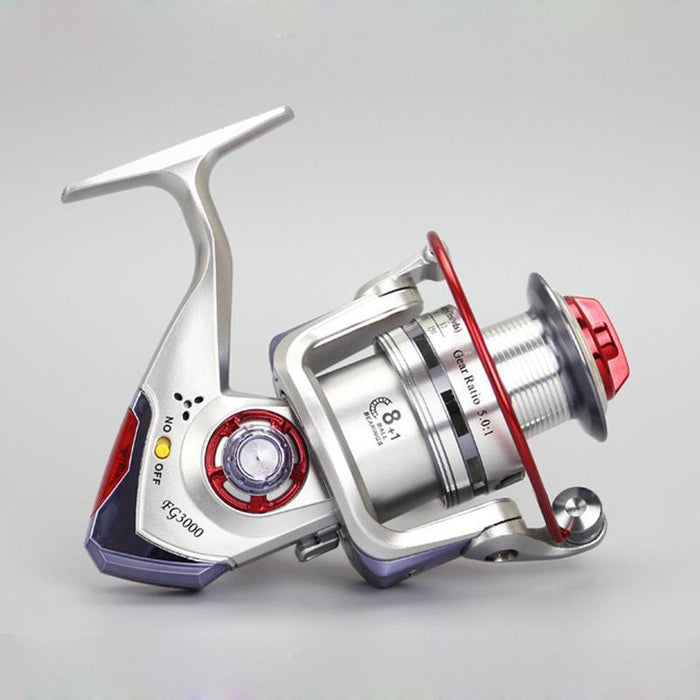 Hot 8+1 Bb 5.1:1 3000-6000 Series Spinning Fishing Reel Crank Handle-Spinning Reels-AOLIFE Sporting Store-3000 Series-Bargain Bait Box