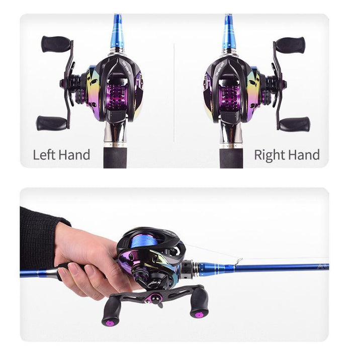 Hot! High Ration 7.3:1 Bfs Baitcasting Reel Left Right Hand Short Axle Metal-Fishing Reels-Mavllos Fishing Tackle Store-Casting Deep Spool-Left Hand-Bargain Bait Box