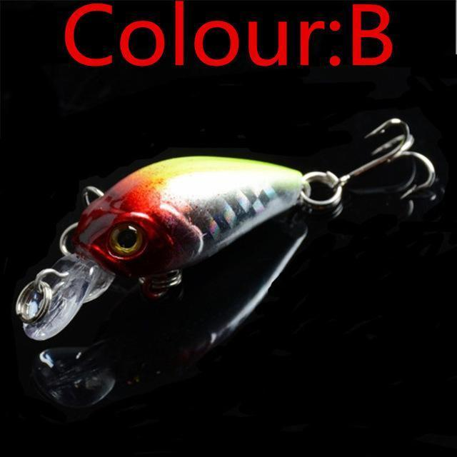 Hot Sale 4.5Cm 4G Swing Popper Fishing Lure Top Water Crank Bait Hard Fish-WDAIREN KANNI Store-B-Bargain Bait Box