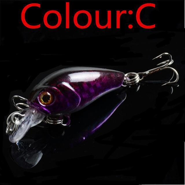 Hot Sale 4.5Cm 4G Swing Popper Fishing Lure Top Water Crank Bait Hard Fish-WDAIREN KANNI Store-C-Bargain Bait Box