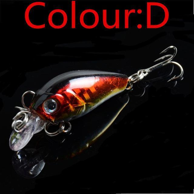Hot Sale 4.5Cm 4G Swing Popper Fishing Lure Top Water Crank Bait Hard Fish-WDAIREN KANNI Store-D-Bargain Bait Box