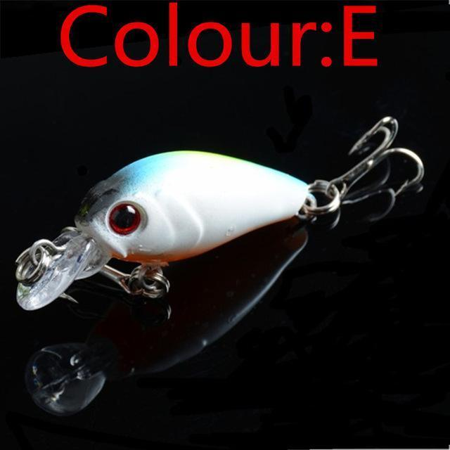 Hot Sale 4.5Cm 4G Swing Popper Fishing Lure Top Water Crank Bait Hard Fish-WDAIREN KANNI Store-E-Bargain Bait Box
