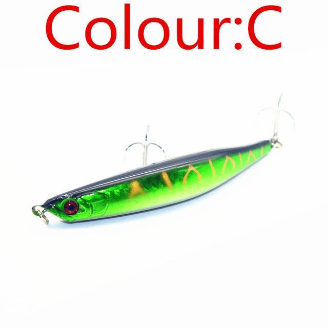 Hot Sell 1Pcs Fishing Tackle 9.5Cm 8.3G Hard Minnow Lure Artificial Bait Fishing-WDAIREN KANNI Store-C-Bargain Bait Box