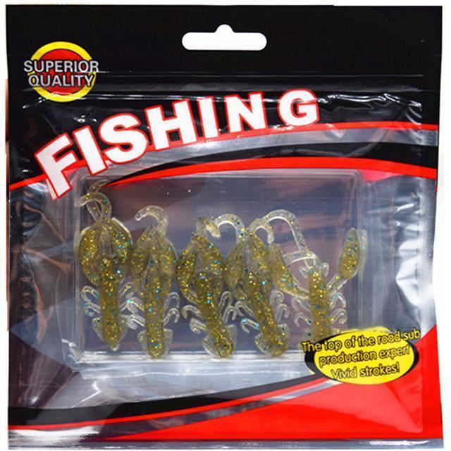 Hot Sell 5 Pcs/Lot Plastice Soft Fishing Lure 50Mm 2.2G Floating Salt Smell-WDAIREN KANNI Store-C-Bargain Bait Box