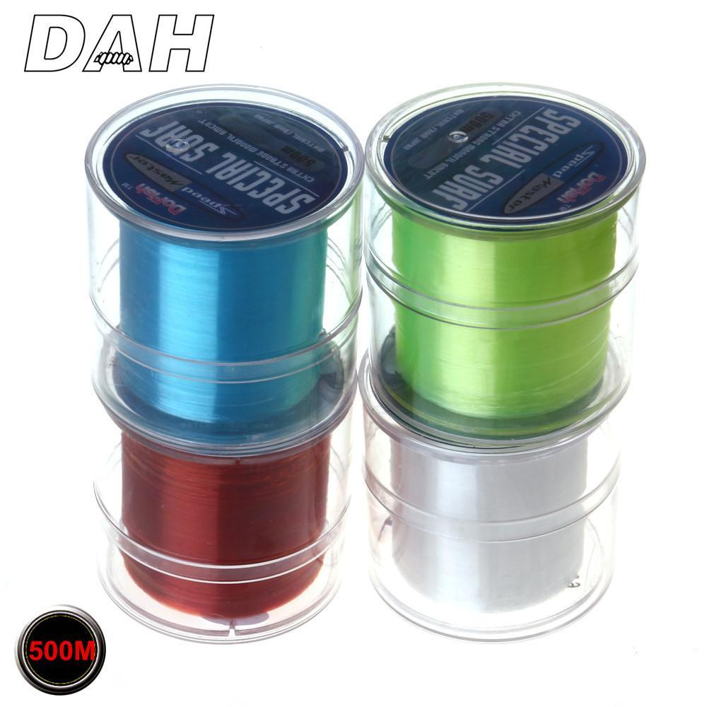 Hot Sell 500M Dah Series Super Strong Monofilament Color Nylon Fishing Line Good-DAH Fishing Tackle Factory Store-White-0.4-Bargain Bait Box