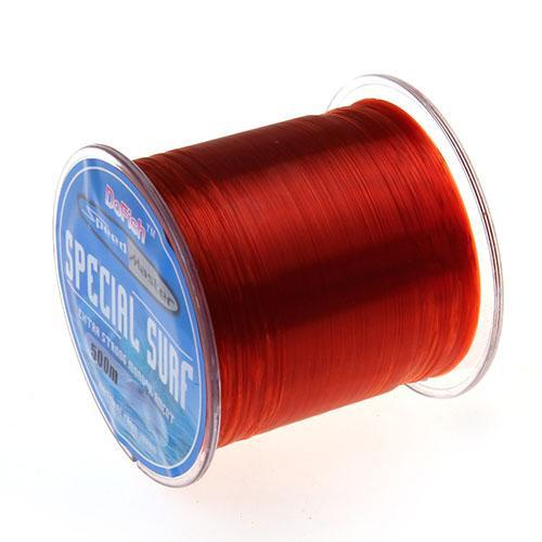 Hot Sell 500M Dah Series Super Strong Monofilament Color Nylon Fishing Line Good-DAH Fishing Tackle Factory Store-wine red-0.4-Bargain Bait Box