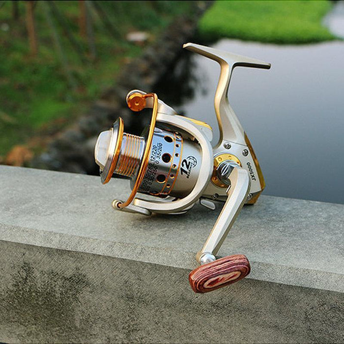 Hot Wheels Fish Spinning Reel 5.5:1 12Ball Bearing Carretilhas De Pescaria-Spinning Reels-HUDA Outdoor Equipment Store-1000 Series-Bargain Bait Box