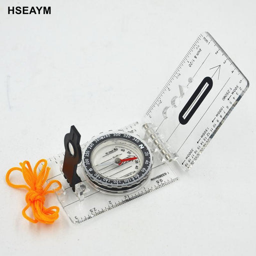 Hseaym Drawing Scale Compass Folding Map Ruler Survival Tool Buckle Car-Yiwu Shansai Outdoor Store-Bargain Bait Box