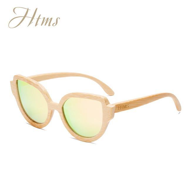 Htms Arrival Wood Cat Eye Polarized Sunglass Women Brand Designer-Sunglasses-htms Official Store-C3 Pink-Bargain Bait Box