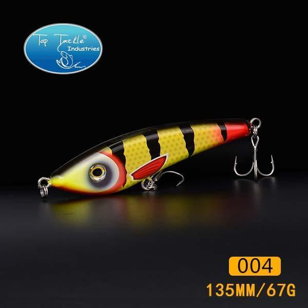 Hunter Jerk Bait Sinking Pencil Nice Fishing Lurelifelike Color Fishing Tackle-TOP TACKLE INDUSTRIES-135mm 004-Bargain Bait Box