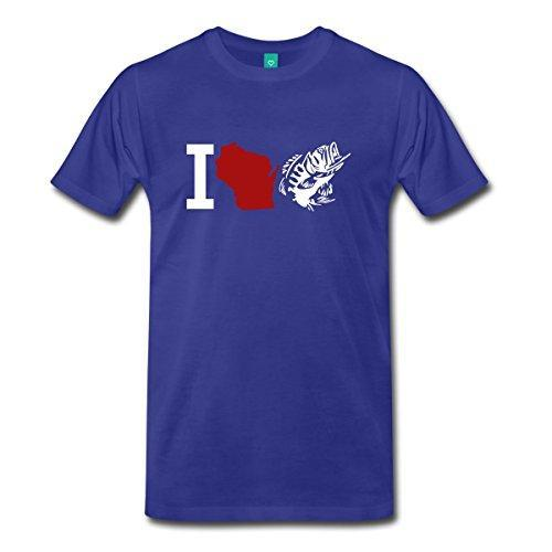 I Love Wi Fishinger Men'S Premium T-Shirt Printed Men T Shirt Short Sleeve Funny-Shirts-Bargain Bait Box-Blue-S-Bargain Bait Box