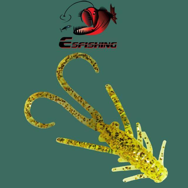 Ice Fishing Lure Soft Baits 10Pcs 4.5Cm/0.8G Esfishing Shrimp Hog 40 Winter Bait-Esfishing Lure Store-CA44DC-Bargain Bait Box