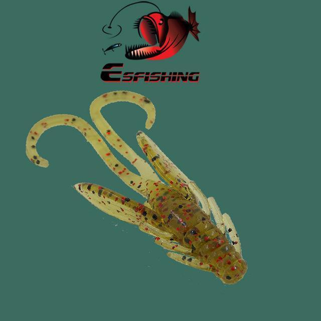 Ice Fishing Lure Soft Baits 10Pcs 4.5Cm/0.8G Esfishing Shrimp Hog 40 Winter Bait-Esfishing Lure Store-PA03-Bargain Bait Box