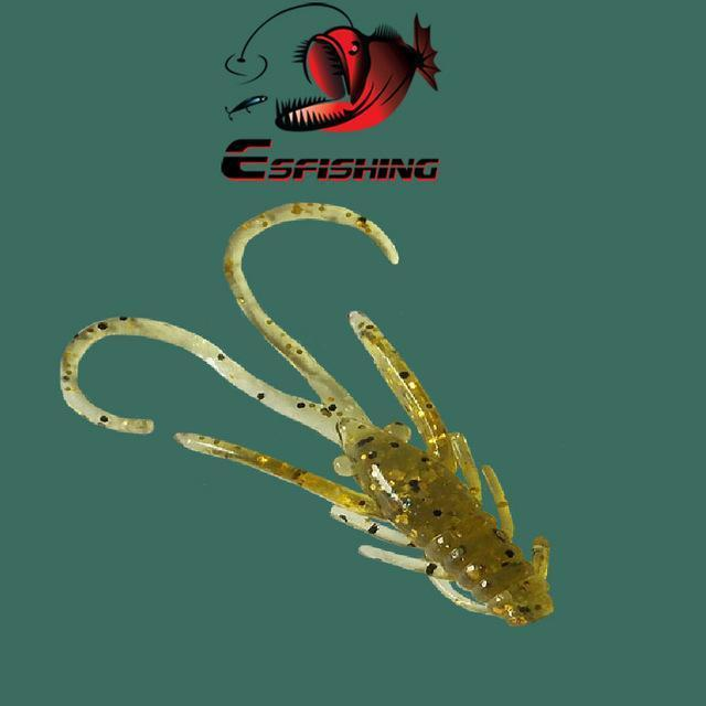Ice Fishing Lure Soft Baits 10Pcs 4.5Cm/0.8G Esfishing Shrimp Hog 40 Winter Bait-Esfishing Lure Store-PA10-Bargain Bait Box