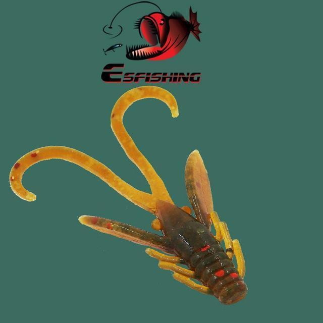 Ice Fishing Lure Soft Baits 10Pcs 4.5Cm/0.8G Esfishing Shrimp Hog 40 Winter Bait-Esfishing Lure Store-PA16-Bargain Bait Box