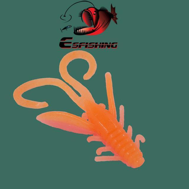 Ice Fishing Lure Soft Baits 10Pcs 4.5Cm/0.8G Esfishing Shrimp Hog 40 Winter Bait-Esfishing Lure Store-PA30-Bargain Bait Box