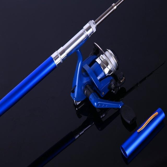 Ice Fishing Rod Combo Mini Shape Portable Pocket Rod Telescopic Fishing Rod Mini-Ice Fishing Rod & Reel Combos-Bargain Bait Box-Blue-Bargain Bait Box