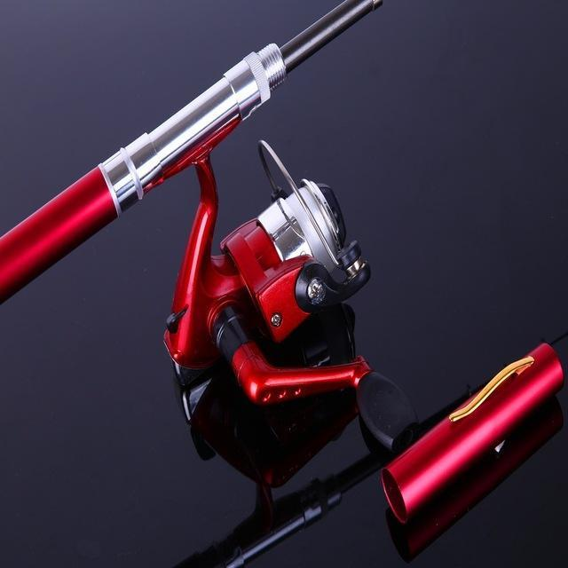 Ice Fishing Rod Combo Mini Shape Portable Pocket Rod Telescopic Fishing Rod Mini-Ice Fishing Rod & Reel Combos-Bargain Bait Box-Red-Bargain Bait Box