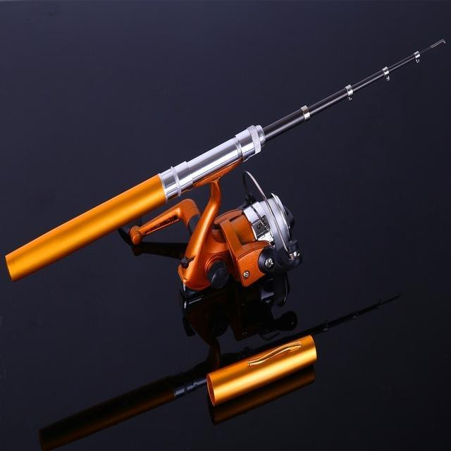 Ice Fishing Rod Combo Mini Shape Portable Pocket Rod Telescopic Fishing Rod Mini-Ice Fishing Rod & Reel Combos-Bargain Bait Box-Yellow-Bargain Bait Box
