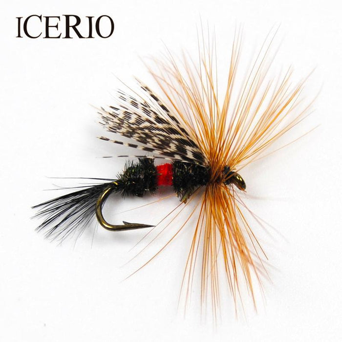 Icerio 6Pcs Royal Wulff Brown Hackle Trout Fishing Fly Bait #12-ICERIO Store-Bargain Bait Box