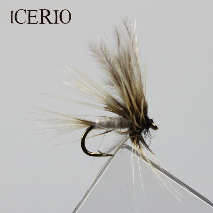 Icerio 8Pcs Grey Mosquito Mayfly Dry Flies Trout Fly #14-Flies-Bargain Bait Box-Bargain Bait Box