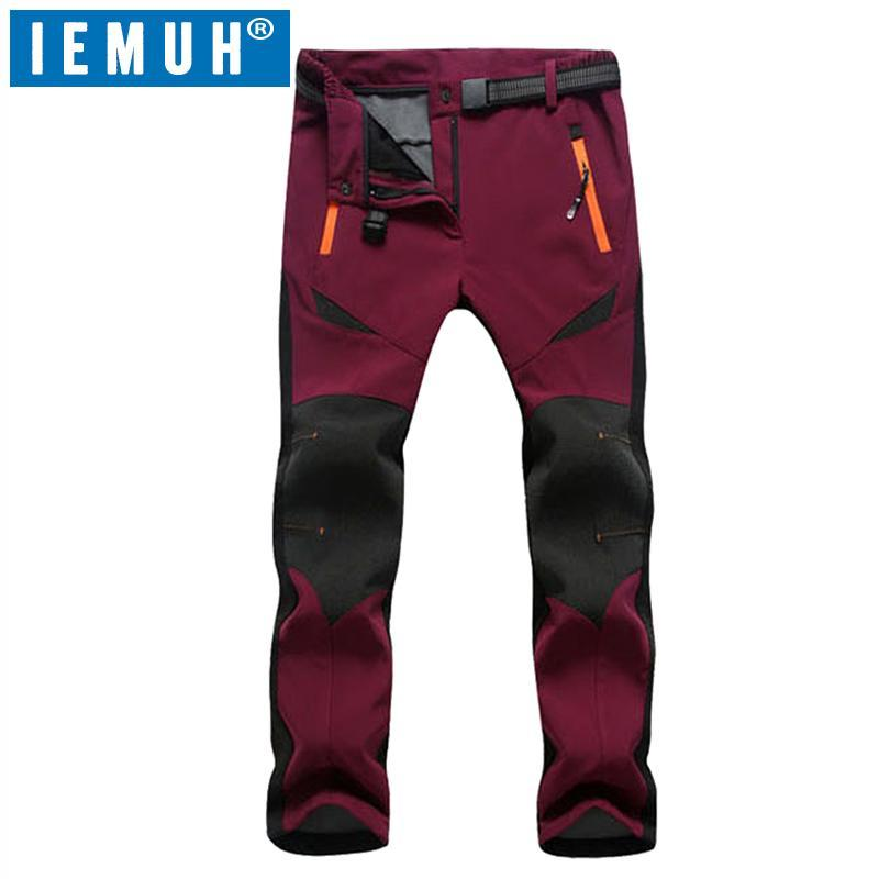 Iemuh Women Skiing Fishing Trekking Climbing Waterproof Pants Camping-Pants-Bargain Bait Box-Purple-M-Bargain Bait Box