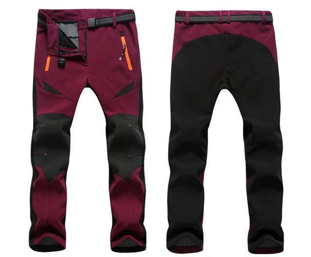 Iemuh Women Skiing Fishing Trekking Climbing Waterproof Pants Camping-Pants-Bargain Bait Box-Wine Red-M-Bargain Bait Box