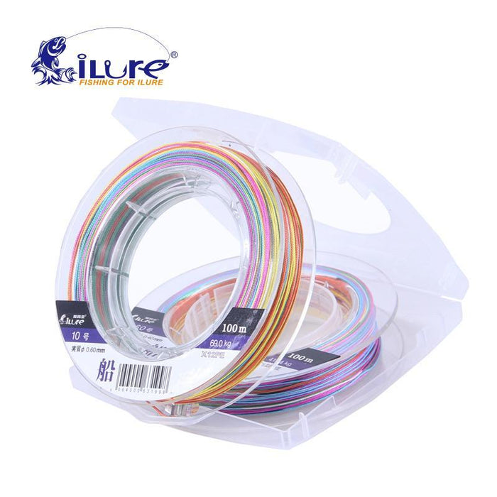 Ilure 12 Braided 100M Pe Multicolor Fishing Line Carp Fishing Rope Wire Super-ilure Official Store-4.0-Bargain Bait Box