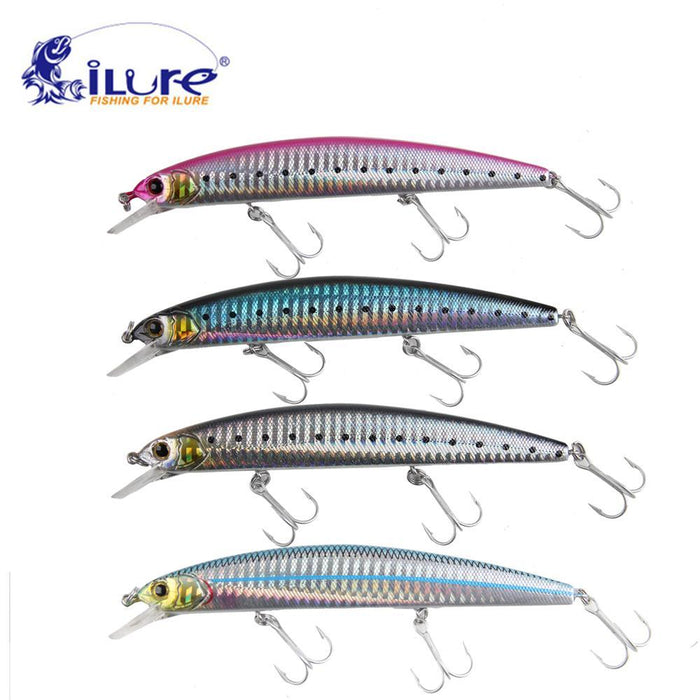 Ilure 4Pcs/Lot Fishing Bait Minnow 20G 130Mm Fishing Bait Ball Glass Hard Lure-Stick Baits-Bargain Bait Box-Bargain Bait Box