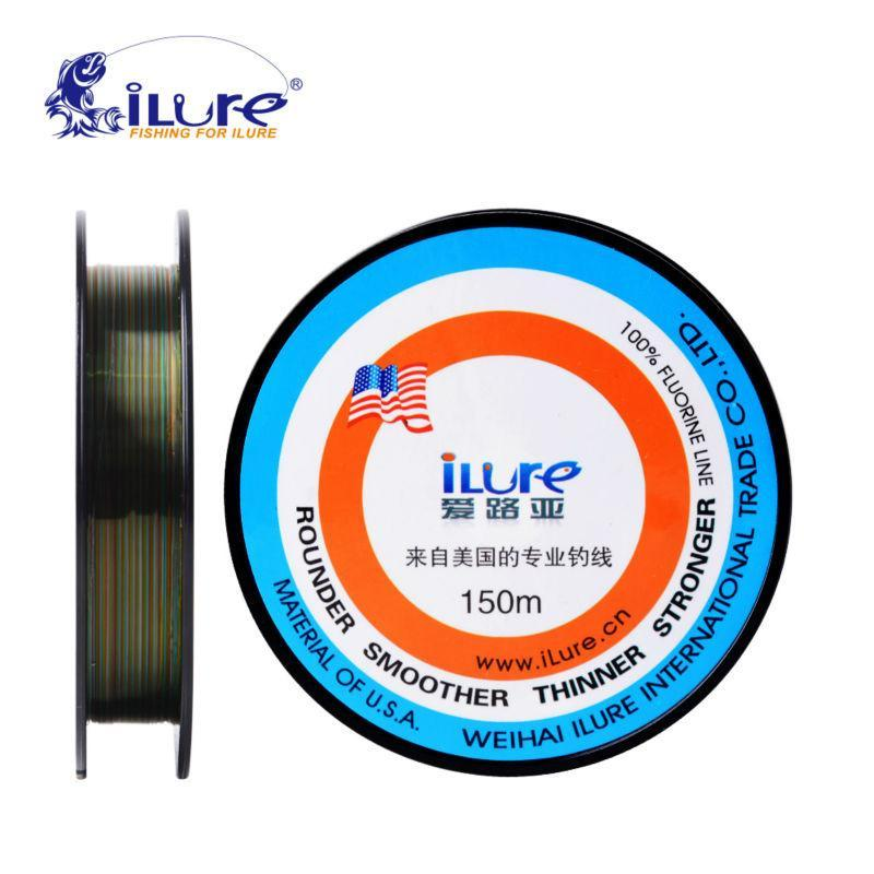 Ilure Brande Super Strong 150Mt Brand Bestnote 100% Japanese Fluorocarbon-iLures Fishing Tackle Store-White-0.4-Bargain Bait Box