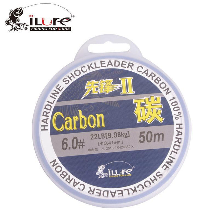 Ilure Fishing Fluoro Carbon Fishing Lines Carbon Fiber 30M/50M Spool Super-HeZi-Fishing Store-50M-0.8-Bargain Bait Box