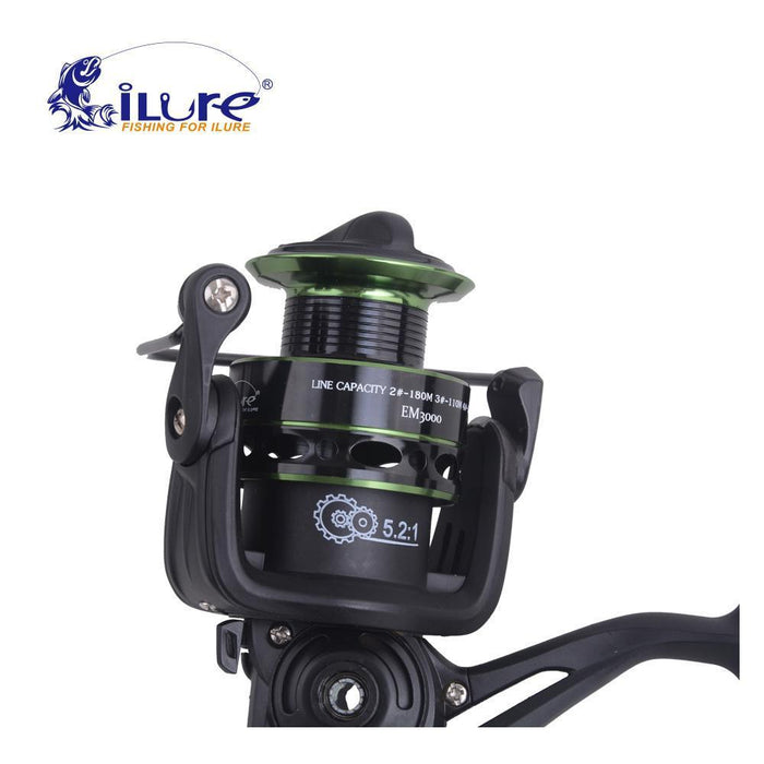Ilure Super Light Updated Quality Em1000-3000 10Bb 5.2:1 Metal Spinning-Spinning Reels-Capital Fishing Tackle(WeiHai)Co.,Ltd-1000 Series-Bargain Bait Box