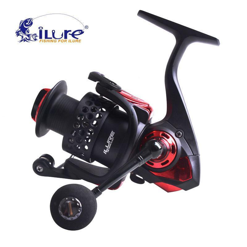 Ilure Water Resistant Spinning Reel Angel Rolle 5.2: 1 6 + 1Bb Bm3000 Carbon-Spinning Reels-ilure Official Store-Black-Bargain Bait Box