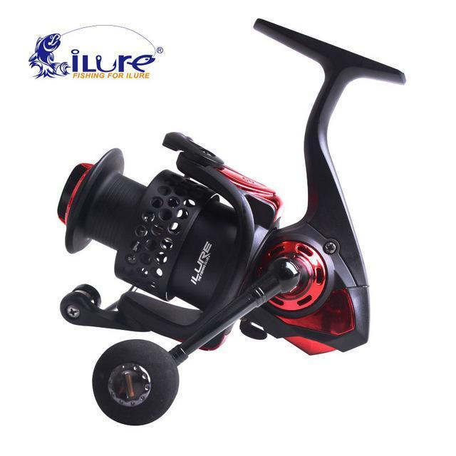 Ilure Water Resistant Spinning Reel Angel Rolle 5.2: 1 6 + 1Bb Bm3000 Carbon-Spinning Reels-ilure Official Store-Red-Bargain Bait Box