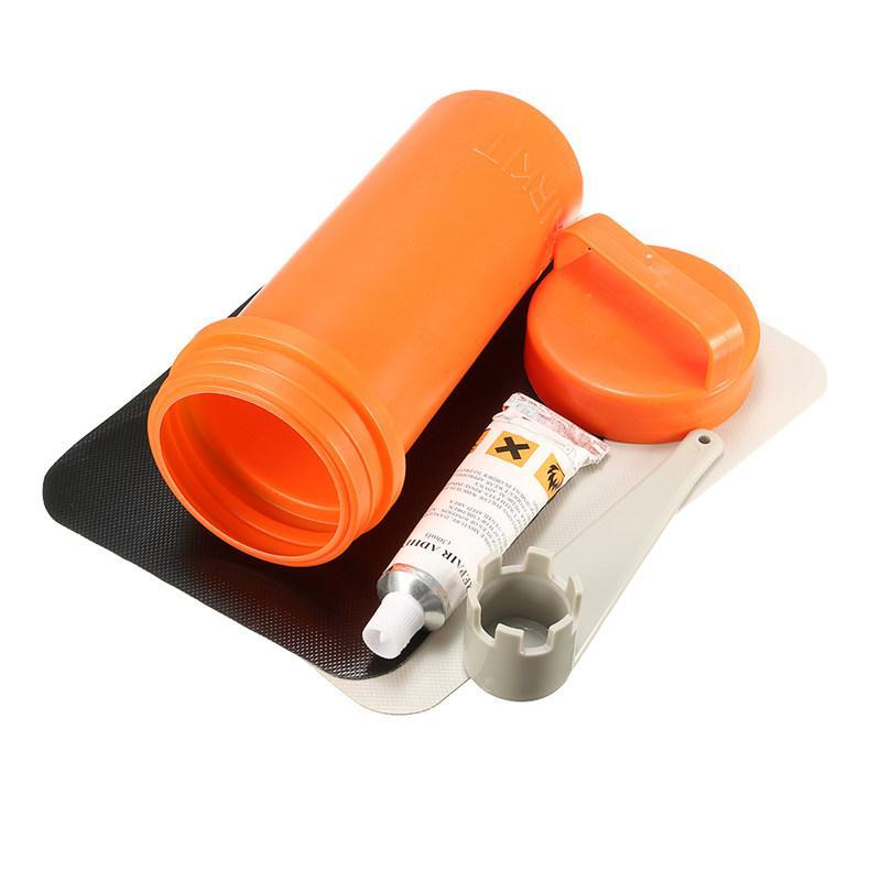 Inflatable Boat Kayak Repair Kit Pvc Patch Glue Valve Wrench Container Bucket-Raft & Kayak Accessories-Bargain Bait Box-Bargain Bait Box