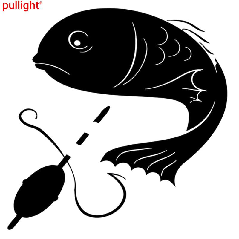 Interesting Fishing Decal Vinyl Decor Car Stickers Silhouette-Fishing Decals-Bargain Bait Box-Red-Bargain Bait Box