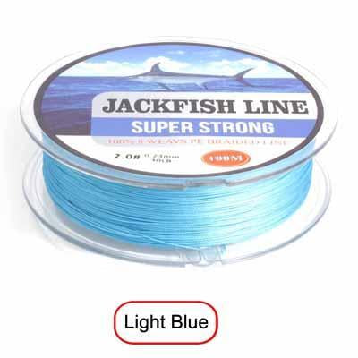 Jackfish 8 Strand 100M Pe Braided Fishing Line Super Strong Fishing Line With-JACKFISH Official Store-Sky Blue-2.0-Bargain Bait Box