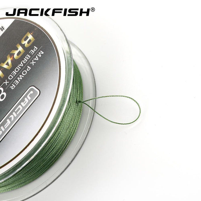 Jackfish 8 Strand 100M Pe Braided Fishing Line Super Strong Fishing Line With-JACKFISH Official Store-White-2.0-Bargain Bait Box