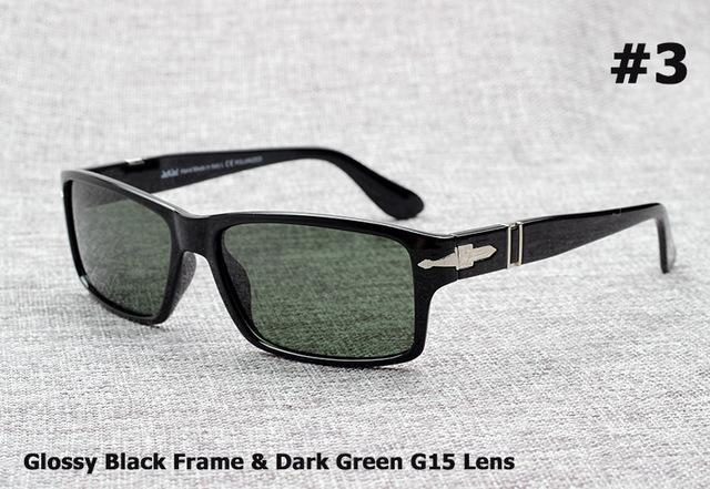 Jackjad Men Polarized Driving Sunglasses Mission Impossible4 Tom Cruise James-Polarized Sunglasses-Bargain Bait Box-3 Dark Green Lens-Bargain Bait Box