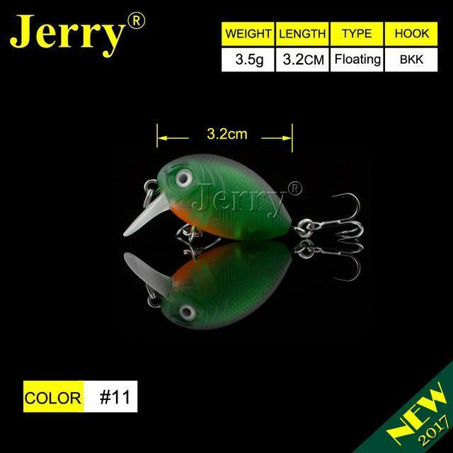 Jerry 1Pc 32Mm Ultralight Fishing Lures Micro Wobble Lures Trout Fishing Lures-Jerry Fishing Tackle-Green orange belly-Bargain Bait Box