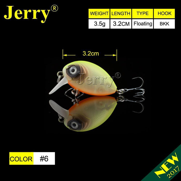Jerry 1Pc 32Mm Ultralight Fishing Lures Micro Wobble Lures Trout Fishing Lures-Jerry Fishing Tackle-Orange with spots-Bargain Bait Box