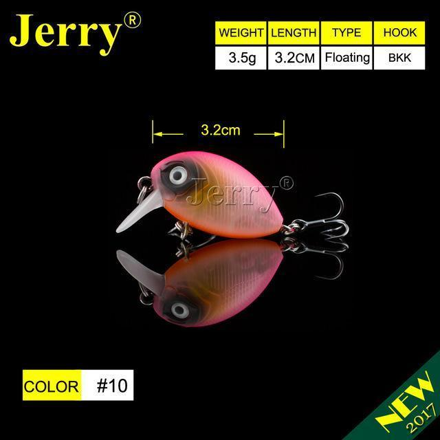 Jerry 1Pc 32Mm Ultralight Fishing Lures Micro Wobble Lures Trout Fishing Lures-Jerry Fishing Tackle-Pink black face-Bargain Bait Box