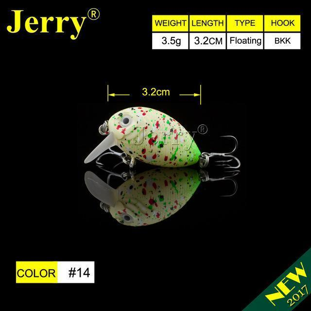 Jerry 1Pc 32Mm Ultralight Fishing Lures Micro Wobble Lures Trout Fishing Lures-Jerry Fishing Tackle-Yellow green-Bargain Bait Box