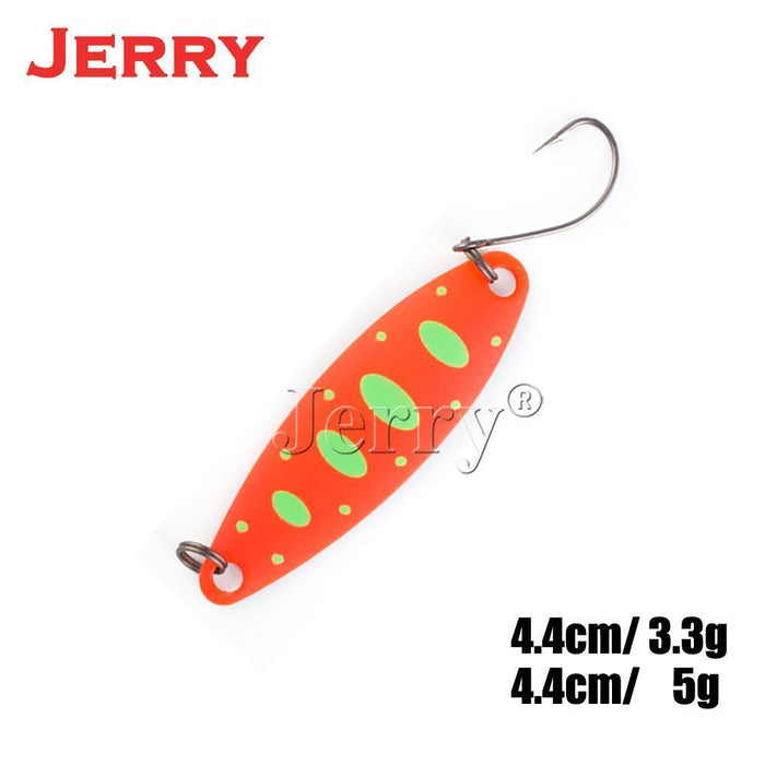 Jerry 5Pcs 3.3G 5G Artificial Fishing Lures Lightweight Trolling Spoons For-Jerry Fishing Tackle-3.3g color pattern 1-Bargain Bait Box