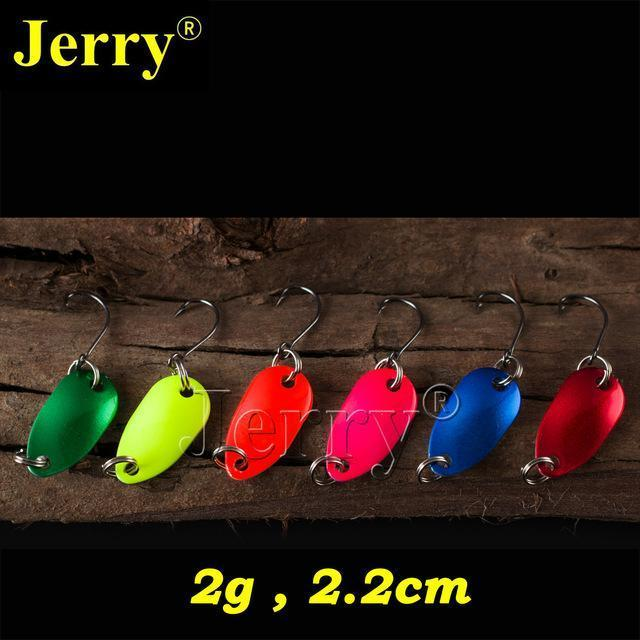 Jerry 6Pcs 2G Pesca Micro Mini Trout Spoon Lures Ultralight River Fishing Spoons-Jerry Fishing Tackle-Pure color-Bargain Bait Box
