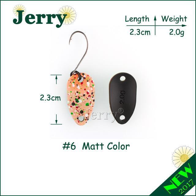 Jerry Pesca Two Side Colors Micro Fishing Spoons Trout Spoon Wobbler Fishing-Jerry Fishing Tackle-2g Orange-Bargain Bait Box