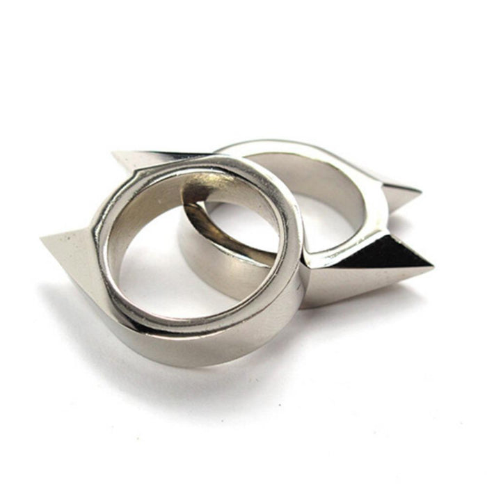 Jetting 1Pc Stainless Defensive Ring Self Defense Weapons Broken Windows-BoBo Chou Store-Silver-Bargain Bait Box